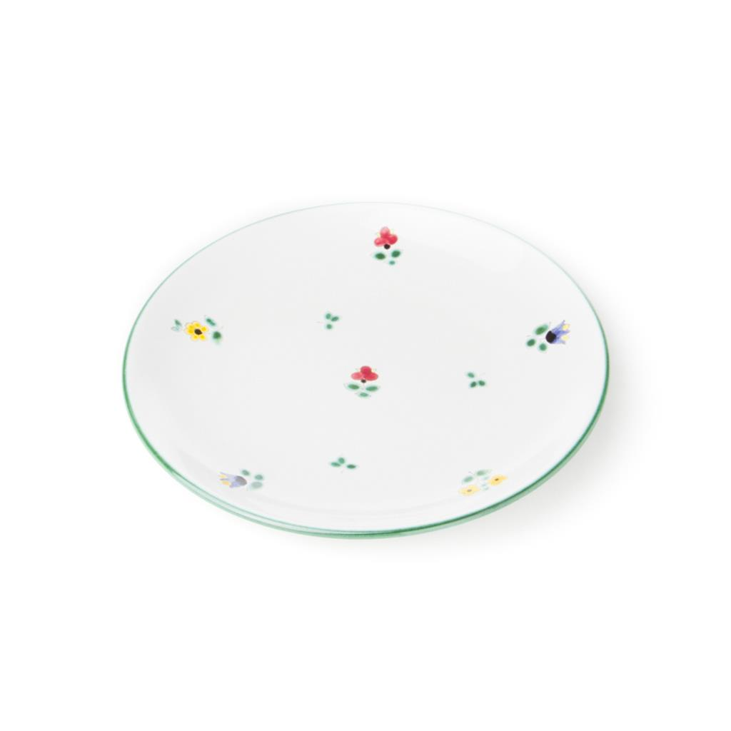 Alpine Flowers Coupe Dessert Plate, 7.9