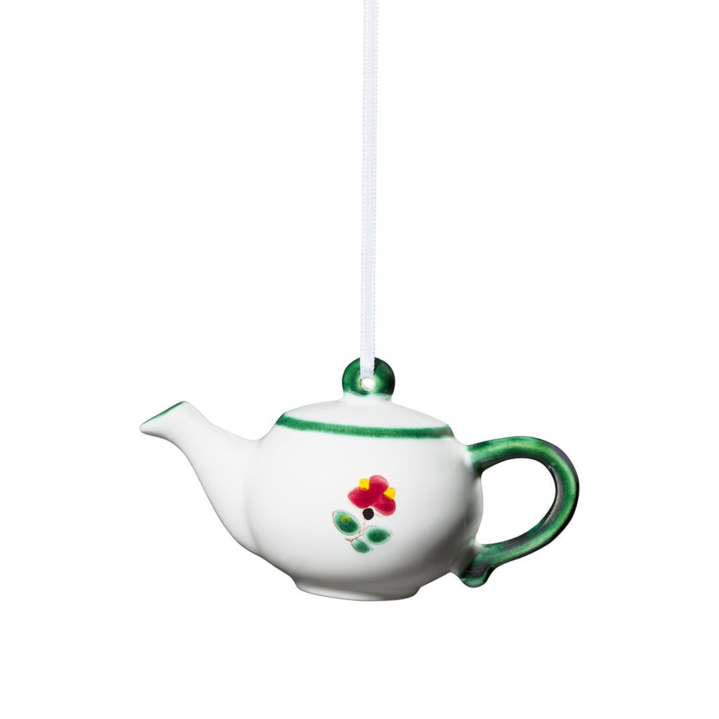 Alpine Flowers Tiny Teapot Ornament -2 available