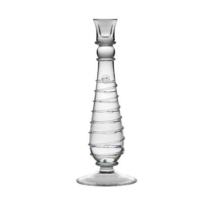 Amalia Clear 10 inch Candlestick  - Retired- 1 available