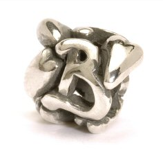 Letter Bead B, Silver - 1 available