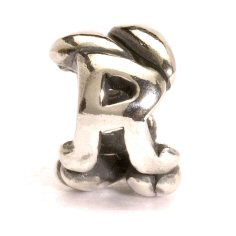 Letter Bead R, Silver 1 available