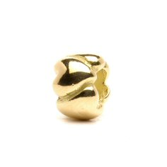 Hearts Bead, Small, Gold