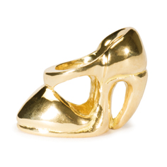 High Heel Bead, Gold