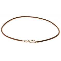 Necklace Leather Brown