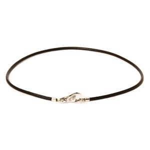 Necklace Leather Black 17.7