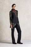 Ivko Long Jacket Embroidery Back Anthracite