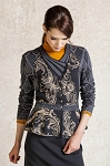 Ivko Jacket with Pleats, Floral Relief