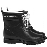 Ilse Jacobsen Ankle Rubber Boot in Black
