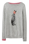Joules Marsha Intarsia Sweater - Rabbit