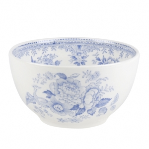 Blue Asiatic Pheasant Small Footed Bowl