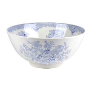 Blue Asiatic Pheasant Large Footed Bowl