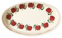 Apple Oval Oven Dish- small and medium