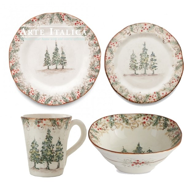 Arte Italica Natale Place Setting-available Spring of 2021