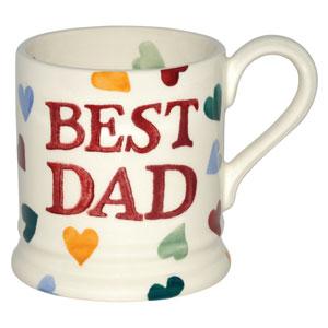 polka heart best dad 1 2 pint mug 3 available