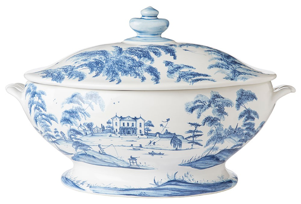 Country Estate Delft Blue Tureen