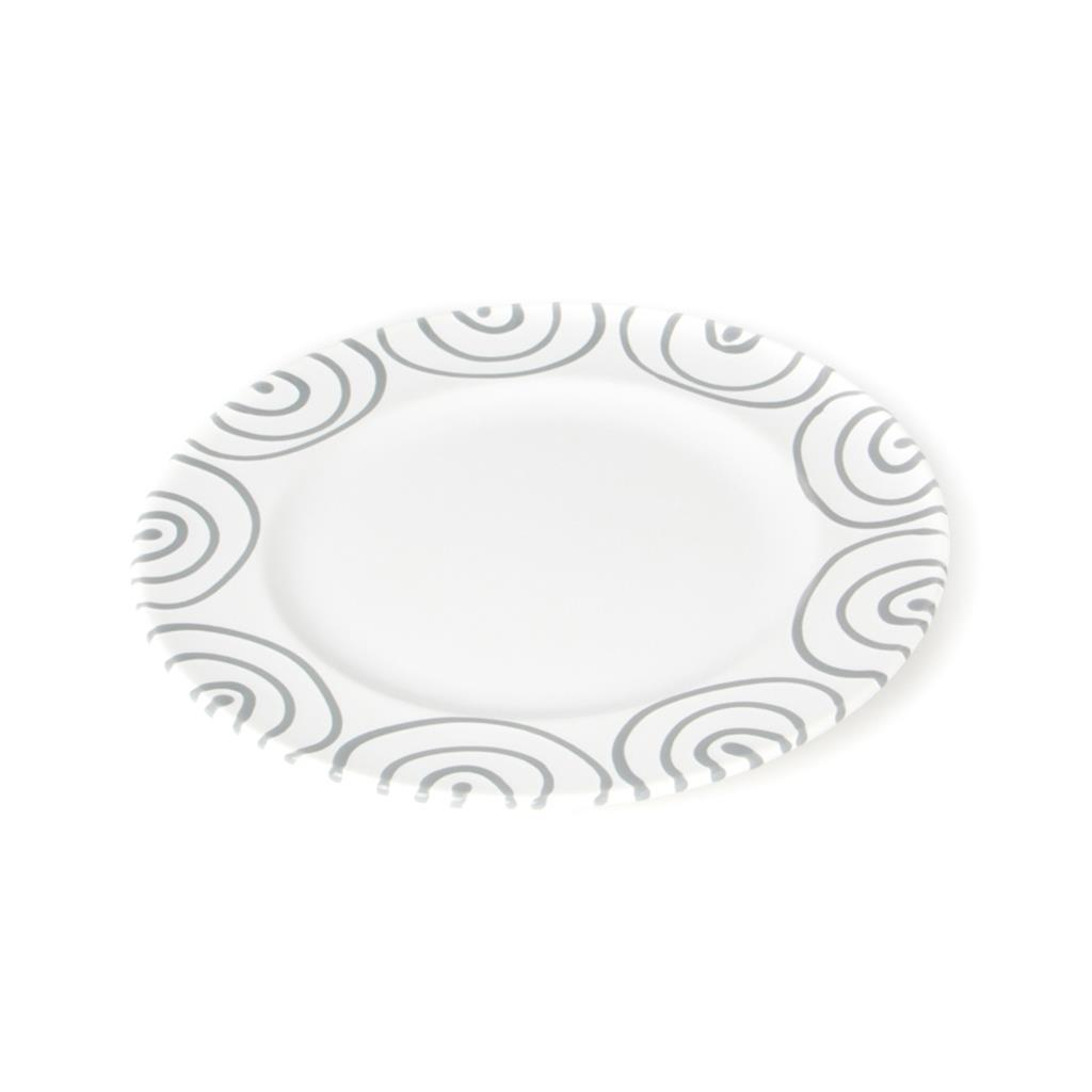 Dizzy Grey Gourmet Dinner Plate 10.6