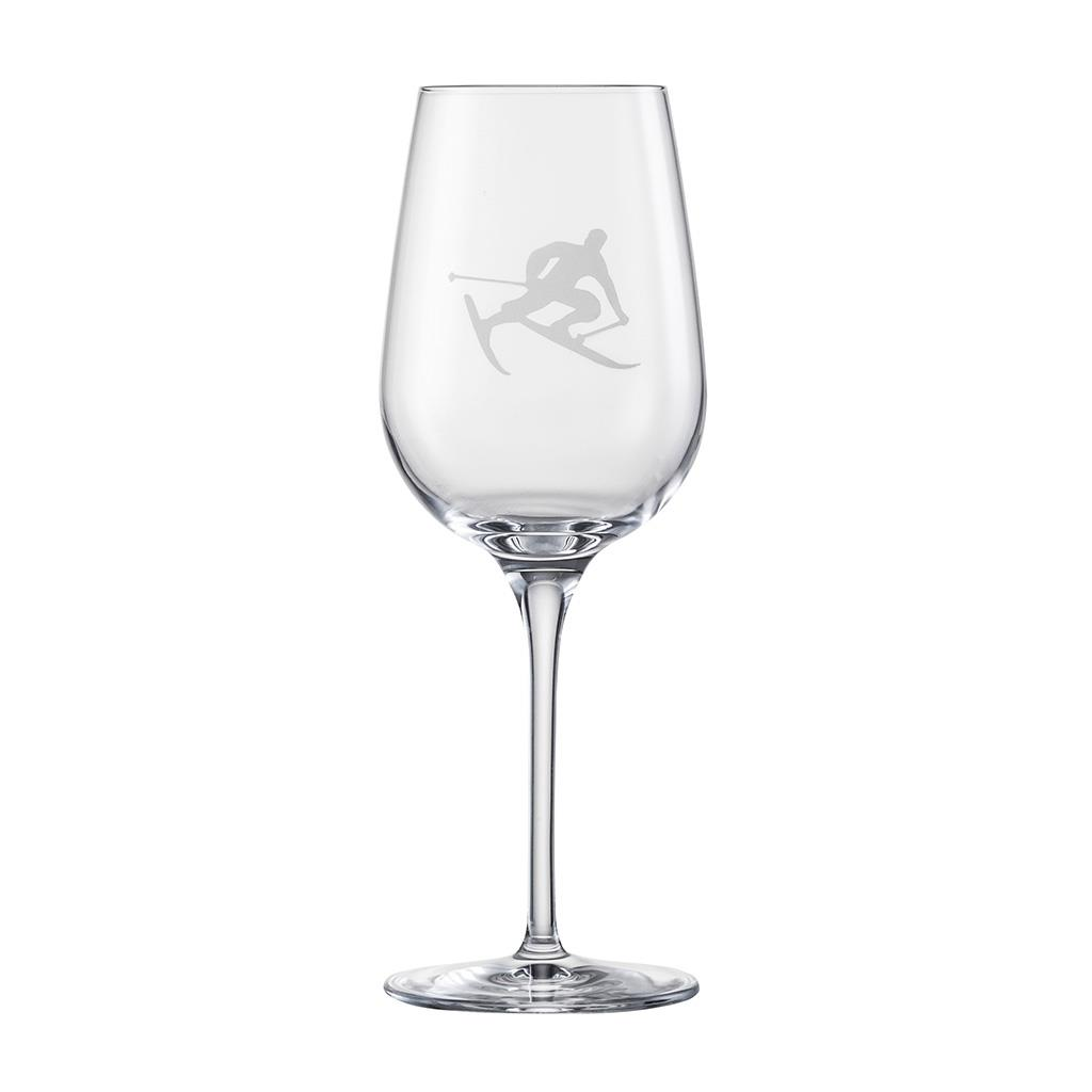 Eisch Glass, White Wine Glass Toni the Skier - 6 available
