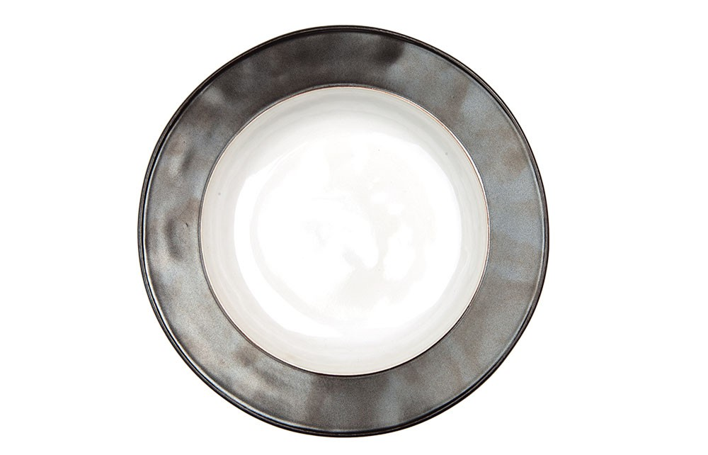 Emerson White/Pewter Pasta/Soup Bowl- 4 available