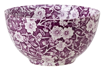 Mulberry Calico Footed Bowl Medium
