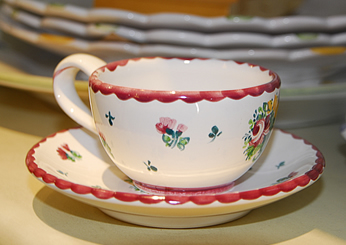 Biedermeier Mocha Cup and Saucer Retired