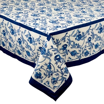 Granada Blue French Tablecloth
