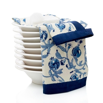 Granada French Tea Towel Blue