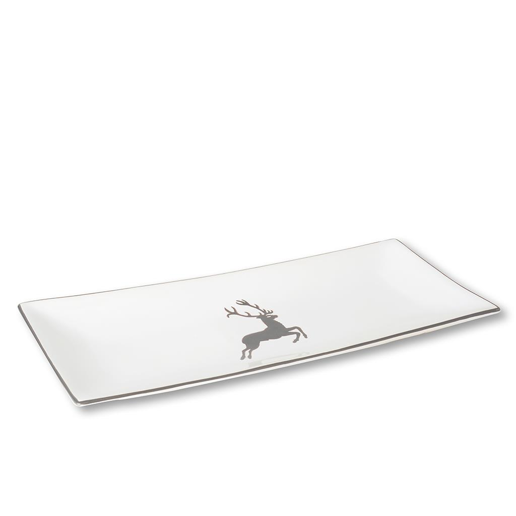 Grey Deer Rectangular Platter 14.2