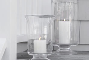Candleholders  and  Hurricanes and Votives