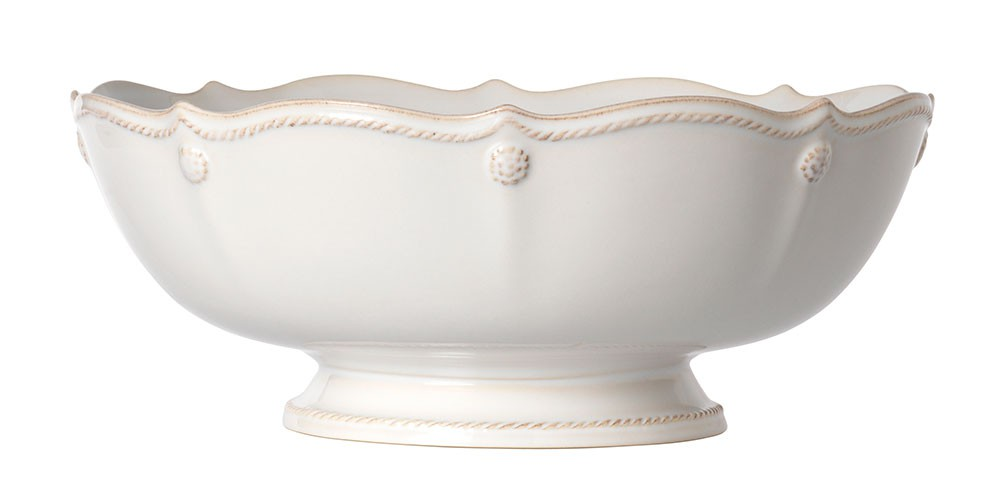 Berry & Thread Footed Fruit Bowl Whitewash