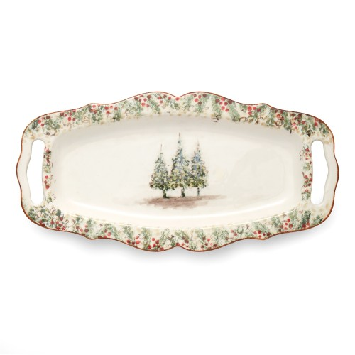 Natale Long Rectangular Tray with Handles