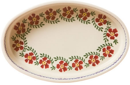Old Rose Medium Oval Baker