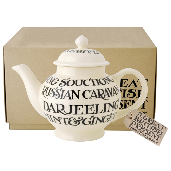 Black Toast All Over 4 Cup Teapot Boxed-3 available