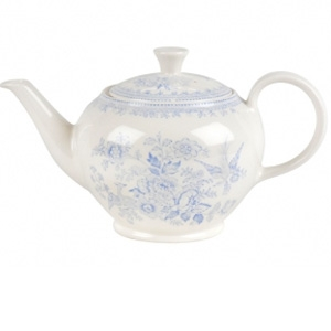 Blue Asiatic Pheasant Large Teapot-available in April 2021