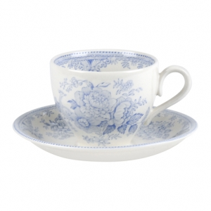 Blue Asiatic Pheasant Tea Cup and Saucer