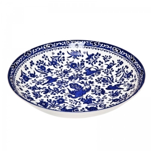 Blue Regal Peacock Pasta Bowl
