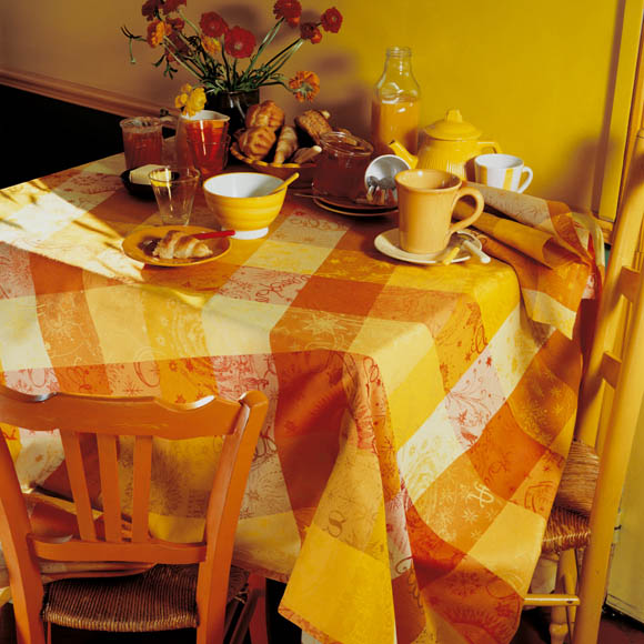 Mille Couleurs Soleil Tablecloth , 100% Cotton and Coated Cotton