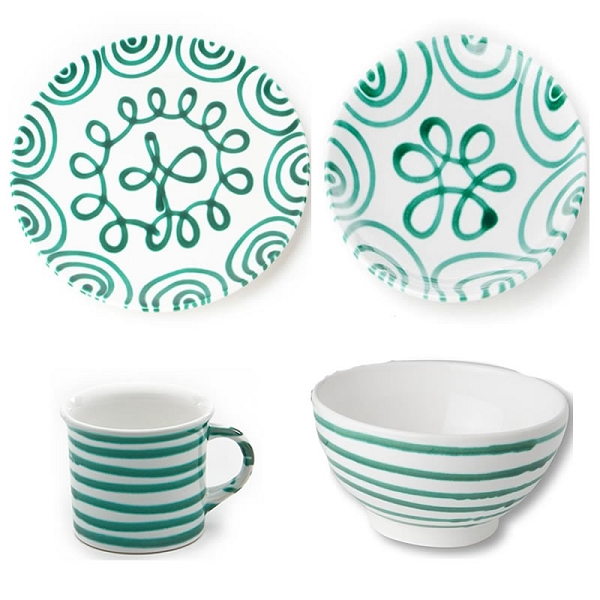 Gmundner Dizzy Green Coupe Place Setting