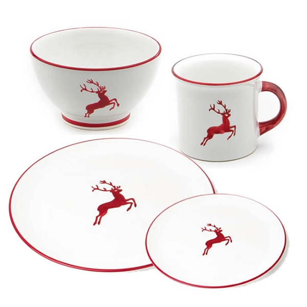 Gmundner Ruby Red Deer Coupe Place Setting