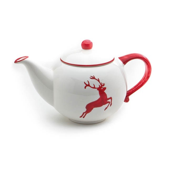 Ruby Red Deer Teapot Small