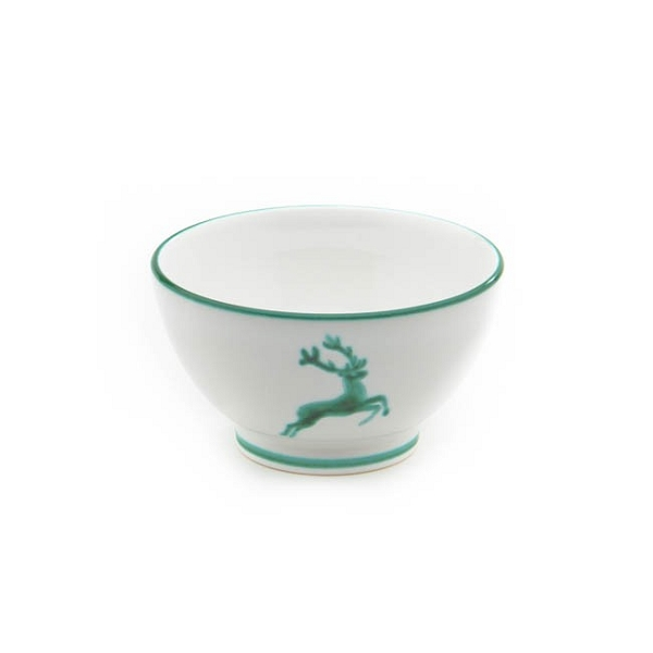 Green Deer (Stag) Coupe French Style Cereal Bowl 5.5''