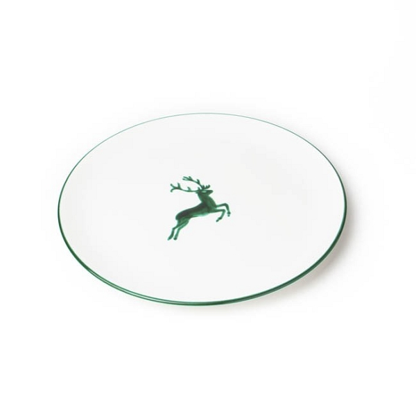 Green Deer Coupe Dinner Plate 11''