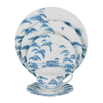 Country Estate Delft Blue Place 5 Piece Setting