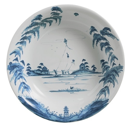 Country Estate Delft Blue Lg Serving Bowl Kite Fliers