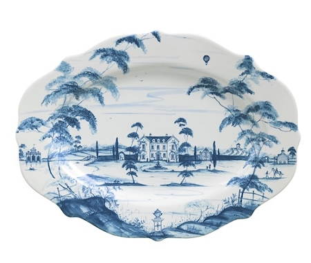 Country Estate Delft Blue Lg Serving Platter Main House