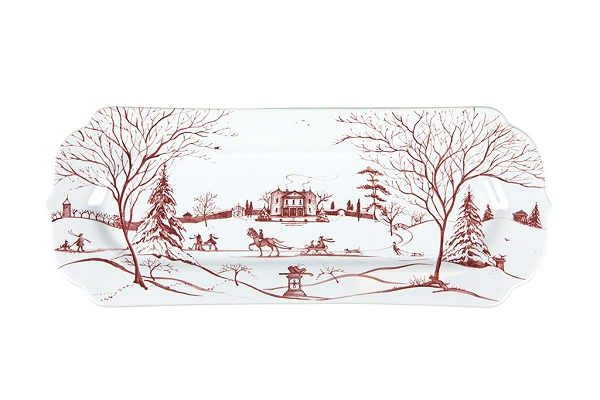 Country Estate Ruby Hostess Tray Ruby Winter Frolic