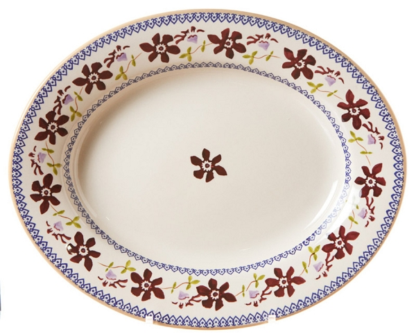 Clematis Small Oval Serving Dish