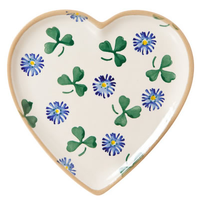 Clover Med Heart Shaped Plate