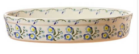 Forget Me Not Medium Oval Oven Dish