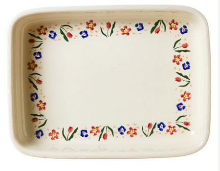 Wild Flower Meadow Large Rectangular Oven Dish