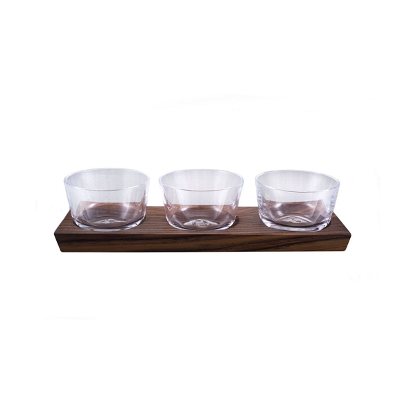 Ludlow Nut Bowl Set with Wood Base Set/3 -Available in 2021